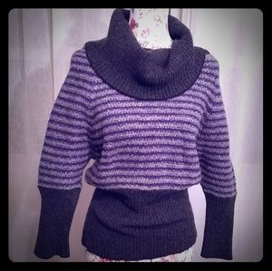Free People Sweater Gray and Purple Size S